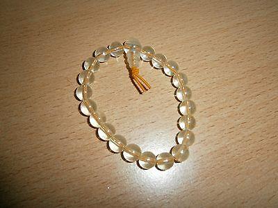 1 Buddhaarmband - Transparente Orange Perlen - Neu Und Ungetragen Warmes Lob Von Kunden Zu Gewinnen