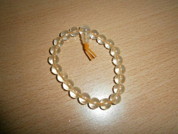 1 Buddhaarmband - Transparente Orange Perlen - Neu Und Ungetragen HeißEr Verkauf 50-70% Rabatt