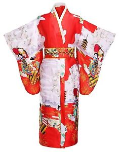 Image is loading THY-COLLECTIBLES-Women-039-s-Silk-Traditional-Japanese- e7500e2ef