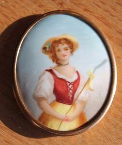 Ancienne Miniature Sur Porcelaine Pourtant Pas Vulgaire