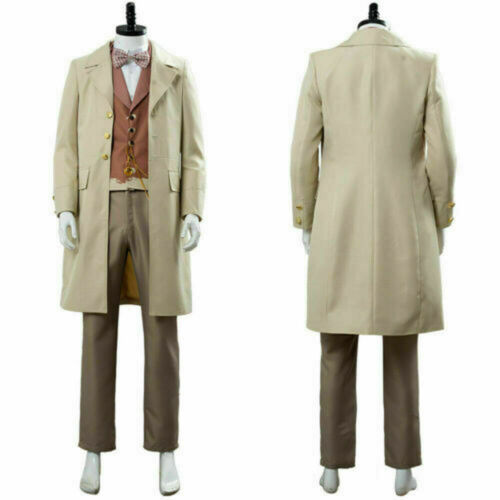Good Omens Angel Aziraphale Cosplay Costume Outfit Uniform Coat Full Set