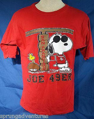Peanuts San Francisco 49ers Snoopy Joe 49er Schulz Red T Shirt 1X Football NFL