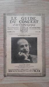 El-Guia-de-La-Concierto-Y-Las-Teatro-Letra-Arthur-de-Greef-N-14-1929