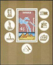 Mongolia 1990 PIRAMIDI/sette meraviglie del mondo/Faro/MAP 1v M/S (n17836)