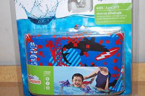 NIP Kids Speedo Armbands Ages 2-12 Printed begin to swim blue boys