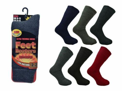 New Single Pair Men/'s Feet Heaters® 2.2 Tog Rating Ultra Thermal Socks UK 6-11