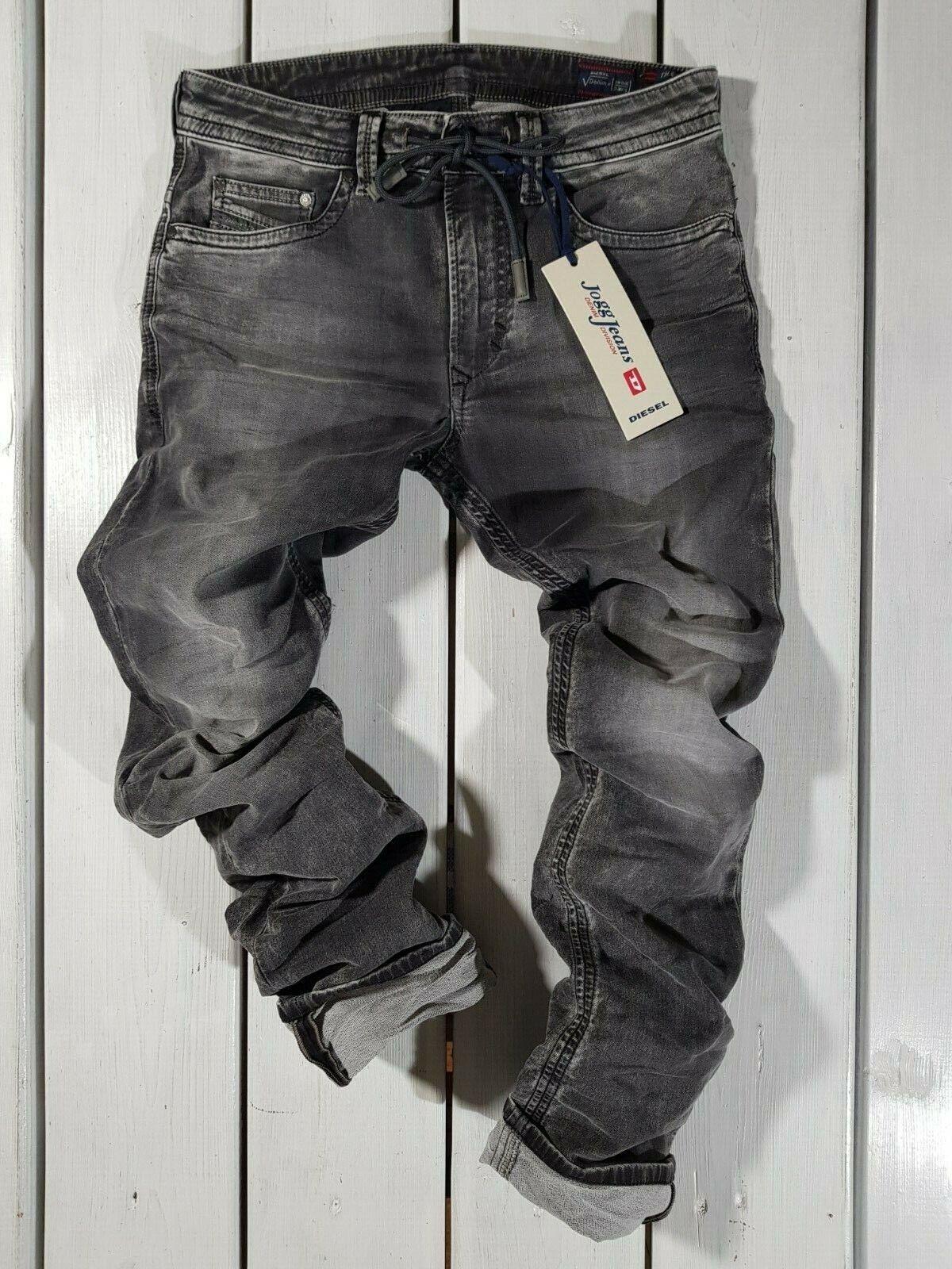 New Diesel Men's Jeans Thavar SP-NE 0855B Denim + Sweat Pants Jogg RRP