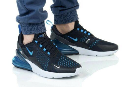 Nike Air Max 270 Black Photo Blue AH8050-019 Running Shoes Men/'s Multi Size NEW