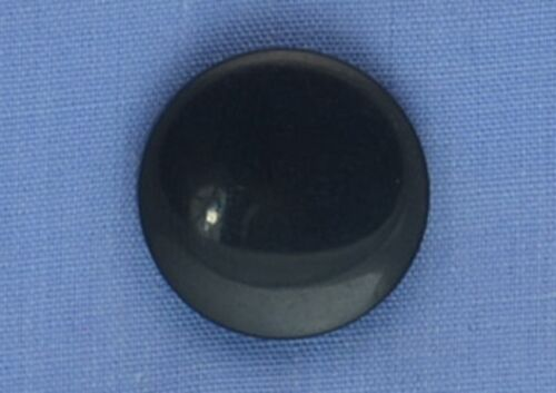 17mm Black Low Shank Button x 2 buttons