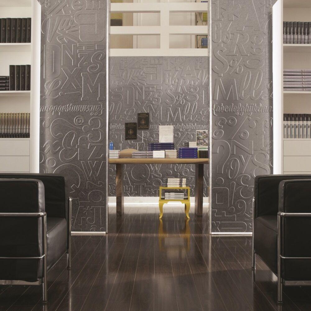 - Fasade Easy Installation Waves Brushed Aluminum Backsplash Panel