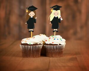 Details About Graduation Cupcake Toppers Decorations Class Of 2019