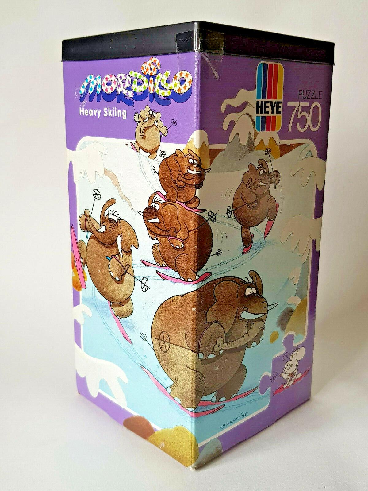 Heye MORDILLO Lourd Ski Vintage 1989 750 piece Jigsaw  Puzzle + plan Excellent  prix de gros