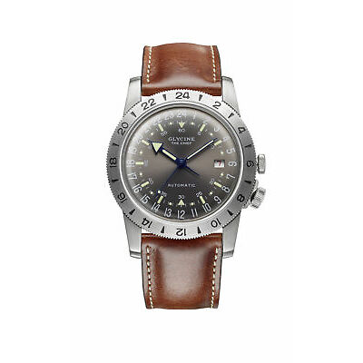 "Glycine Men's GL0251 Airman Vintage ""The Chief"" Purist Automatic 40mm Watch"