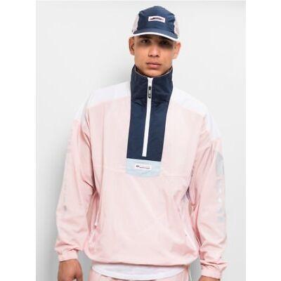 KITH X COLUMBIA SANTA ANNA WINDBREAKER AGENCY Brand New Pink,Navy, and White