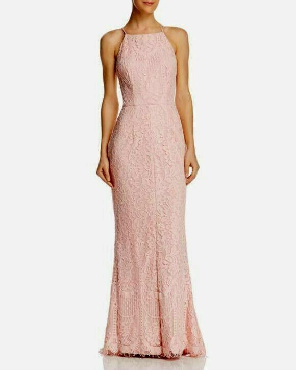 Aqua Floral Lace Gown Größe 2  G234