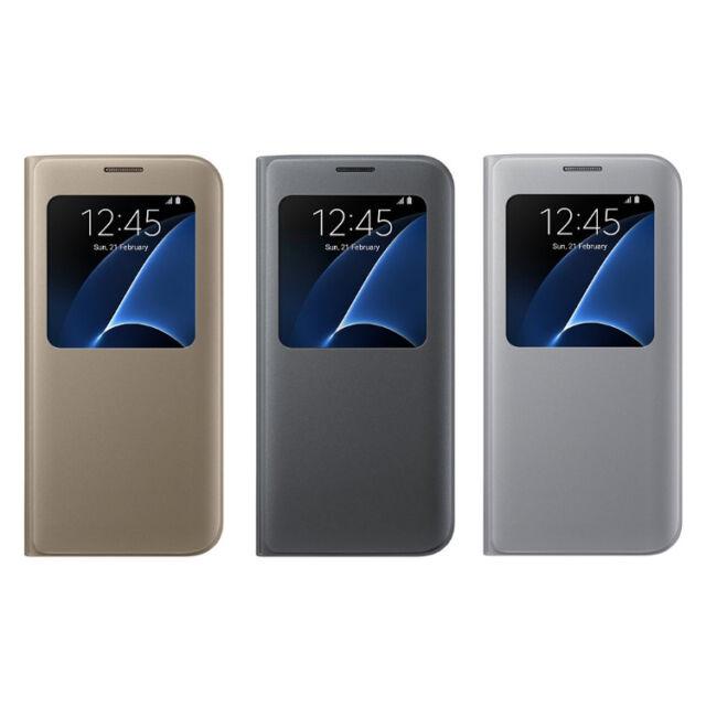 Samsung Galaxy S7 Edge S-View Cover  SM-G935 S View Flip Case