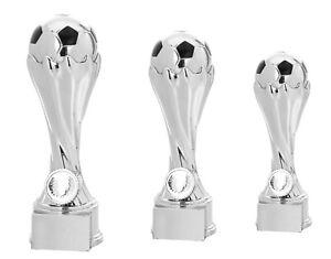 3er Serie massive Fussball-Pokale silber X80432 (H=27-19cm) mit Gravur 34,95 EUR
