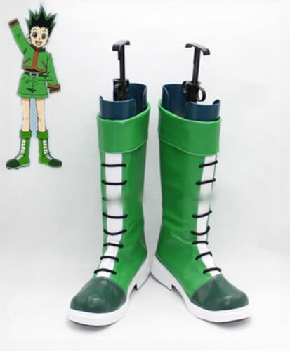 HUNTER×HUNTER GON FREECSS Green Cosplay Shoes custom made FF.196