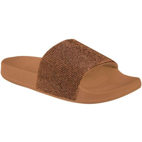 Nouveau Haut Strass à Enfiler Fashion Confortable Flip Flop Slider Pantoufles Chaussures de loisirs