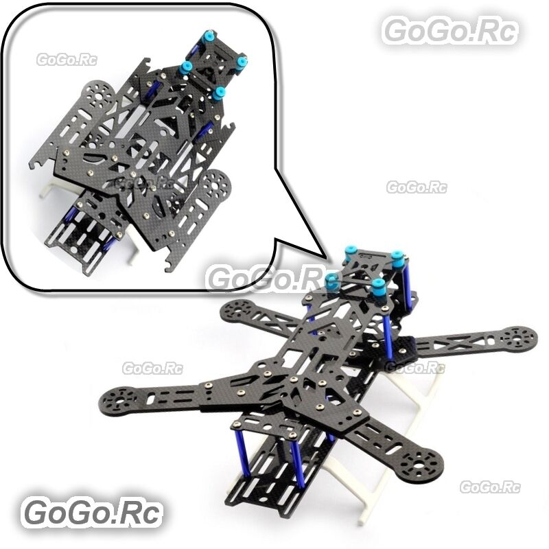 Emax 300mm Folding Pure Carbon Fiber Quadcopter Multirojoor Frame Kit - EQA300BU