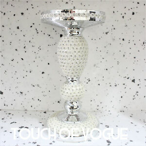Silver-Mirrored-Side-Table-Modern-Plant-Stand-BedSide-Sparkle-End-Romany-Bed