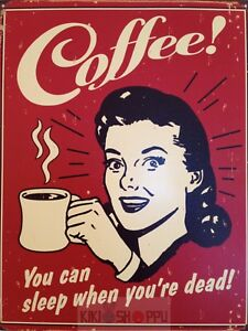 Poster-A3-Coffee-You-Can-Sleep-When-You-Are-Dead