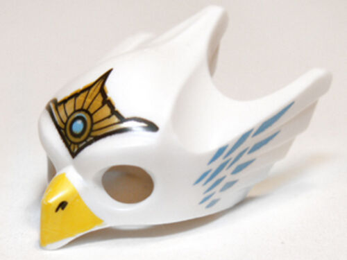 Headgear Mask Bird LEGO Eagle Minifig w// Yellow Beak /& Gold Tiara White