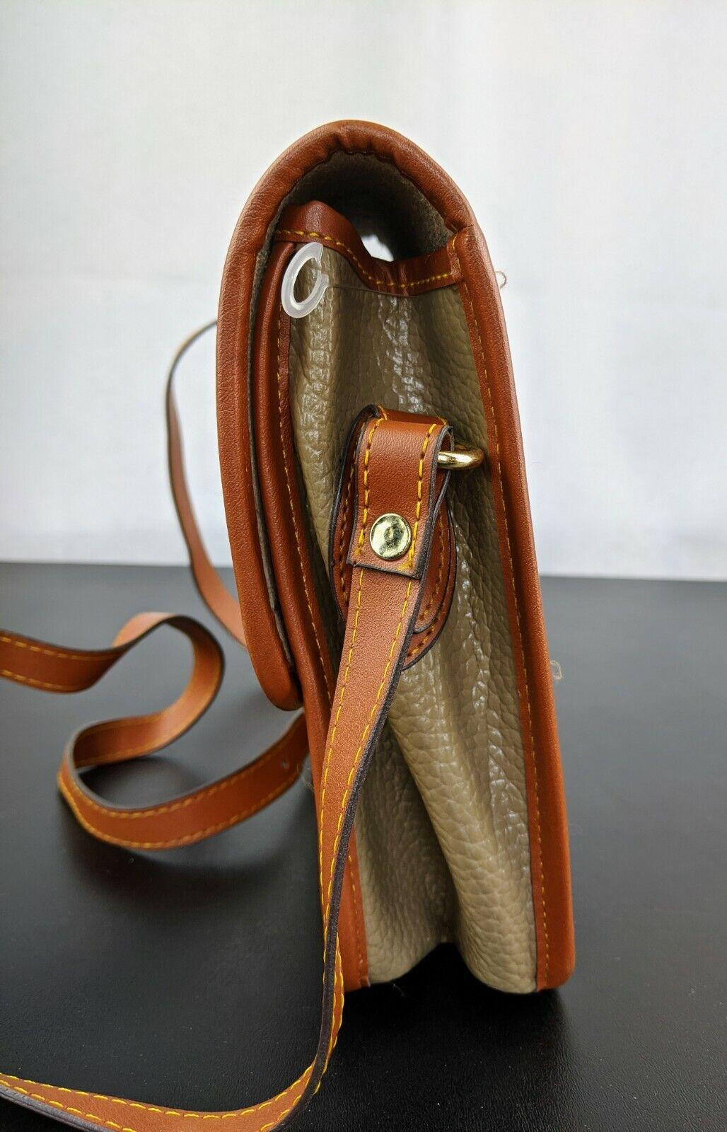 Dooney & Bourke Tan Brown Small Purse Handbag Tra… - image 7
