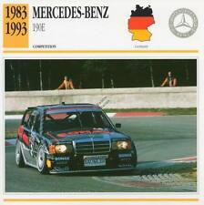 1983-1993 MERCEDES-BENZ 190E Racing Classic Car Photo/Info Maxi Card