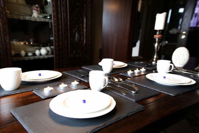 4 Schieferplatten 30 x 20 cm Platzset Tischset Untersetzer