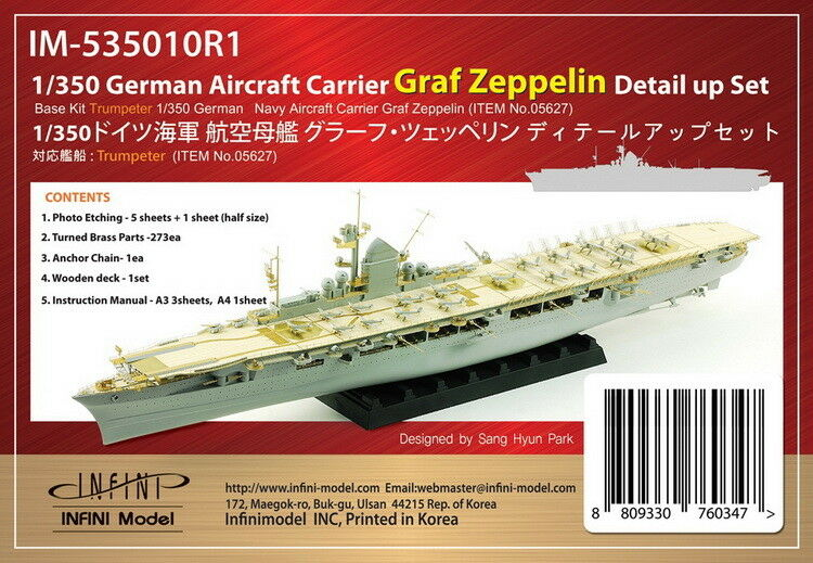 Infini 1 350 DKM Graf Zeppelin Detail-up Set for Trumpeter kit