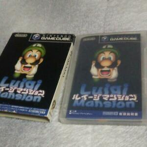 Luigi-Mansion-Nintendo-GameCube-Luigi-039-s-Game-software-With-box-memory-card-JPN
