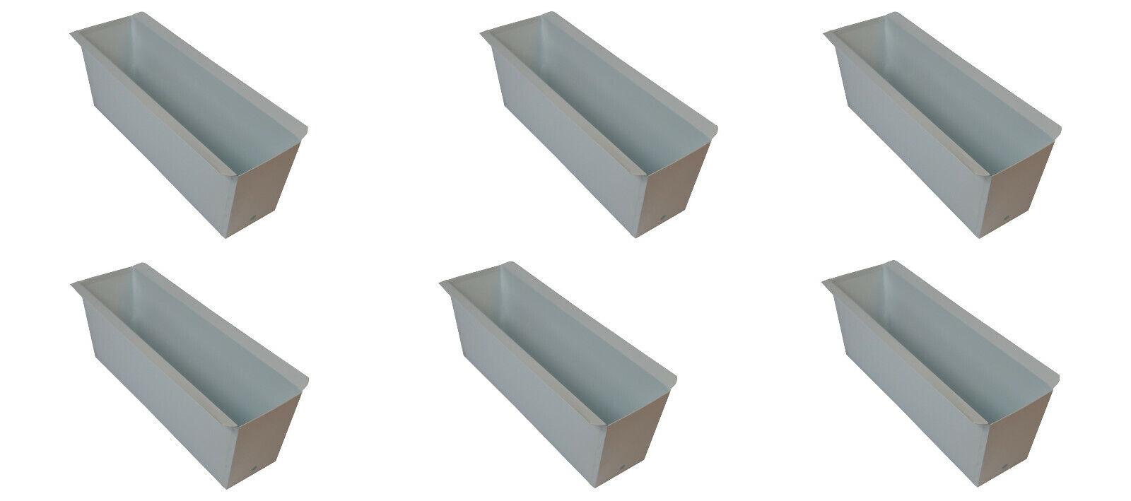 18X Blaumenkasten Weiss für Europalette Balkonkasten Einsatz Pflanzkasten 35,5cm