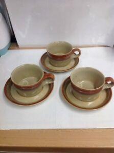 Vtg Mikasa Potters Art Japan Ben Seibel Design Country Cabin Mugs