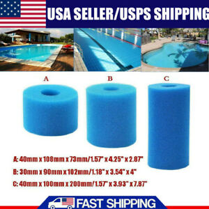1* For Intex Type A Reusable Washable Swimming Pool Filter Foam Sponge Durable