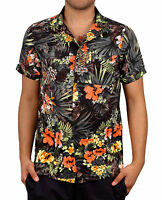 Men's Hawaiian Shirt With Tropical Flower Print From One Resolution