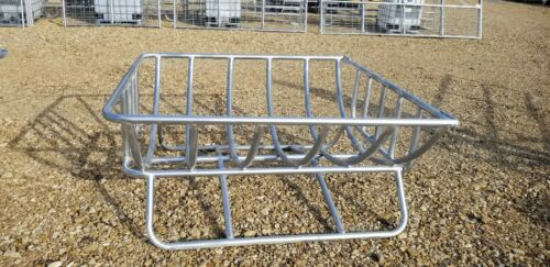 SIZE 6X6 GALVANIZED STEEL CRADDLE HAY FEEDER for Goats-Sheep-Cattle-Horses