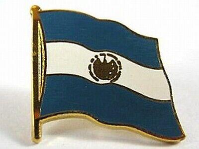 New With Pressure Lock 0 5/8in El Salvador Flags Pin Badge