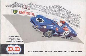 DB Le Mans Roadster Cabriolet Super Lux 1962 Original UK Market Brochure