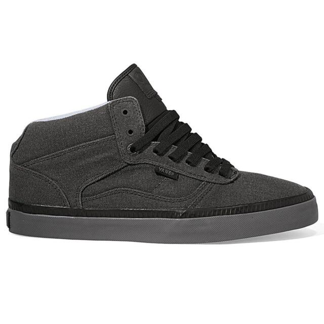 f3bbbee4e7 VANS Bedford Mens 6.5 Womens 8 Black Pewter Bio Wash Skate Shoes ...