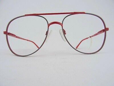 Appena R + H Vintagebrille Grigio-rosso Xl Pilota Forma 70s Metallo Gleitsicht Capace Taglia M 52 [] 16-g Gr. M 52[]16 It-it Mostra Il Titolo Originale