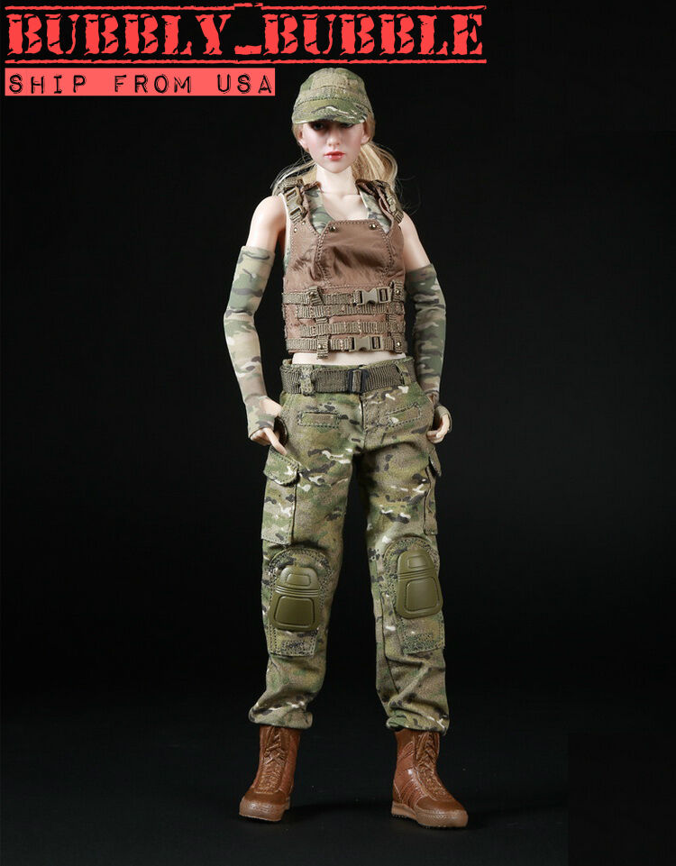 1 6 Women Soldier Combat Clothing For Phicen Hot Toys Kumik Female SHIP FROM USA