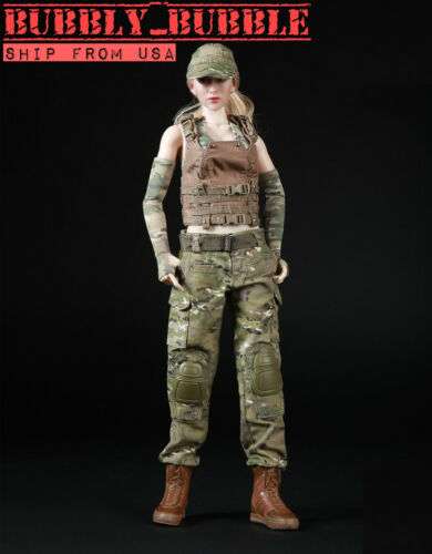 16 Women Soldier Combat Clothing For Phicen Hot Toys Kumik Female SHIP FROM USA