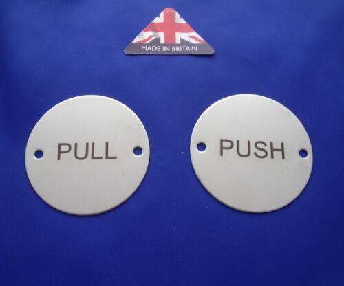 Acier inoxydable push & pull porte signes avec vis ou adhésif.