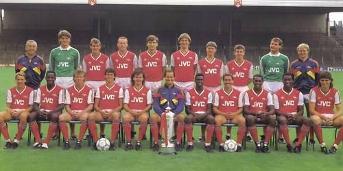 ARSENAL FOOTBALL TEAM PHOTO>1987-88 SEASON