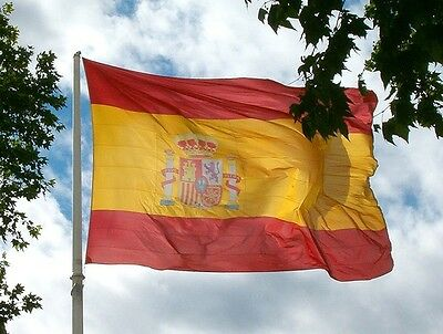 Spain State 8x5 Giant National Flag Spanish