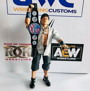 WWE-WWF-John-Cena-nos-imitacion-de-cuero-correa-de-encargo-para-titulo-Mattel-Jakks-figuras