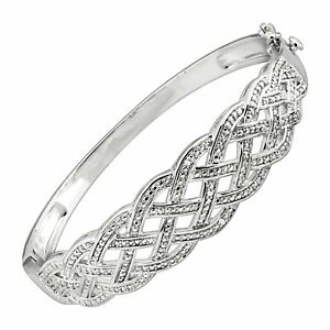 Woven-Bangle-Bracelet-with-Diamonds-in-Rhodium-Plated-Brass