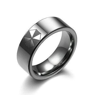 Umbrella Corporation Resident Evil Stainless Steel Ring Necklace Pendant Boy Man