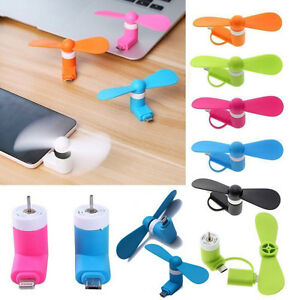 Micro USB Cooler Portable Mini Fan Mobile Phone For Apple iPhone 7 6 5 / Plus